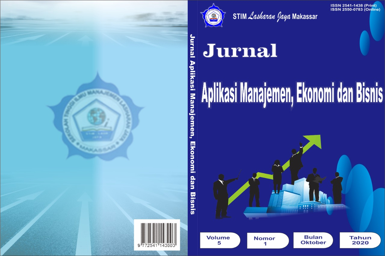 View Vol. 5 No. 1 (2020): Jurnal Aplikasi Manajemen, Ekonomi dan Bisnis
